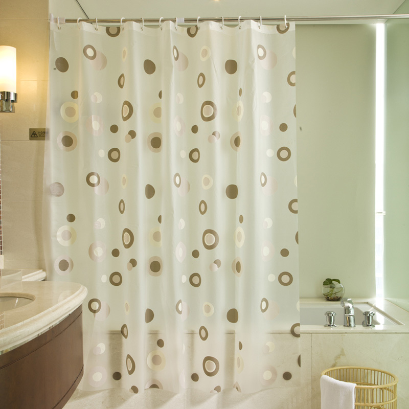 Free Shipping 180 180cm Simple And Beautiful Peva Shower Curtain Thickening Waterproof Bathroom