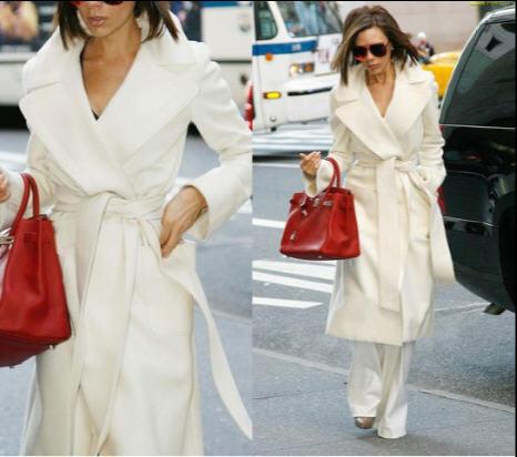 Осень зима свободного покроя женщины плащ пальто с отложным белый вниз воротник приталенный длинная верхняя одежда для леди S-XXL A474