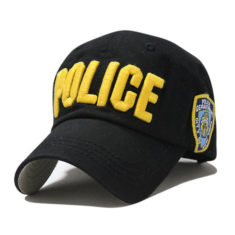 Police Cartoon Child Baseball Cap Fashion Embroidery Letter Hat Candy Color Summer Caps Cool Boy Hats Autumn Girl Sunhat(China (Mainland))