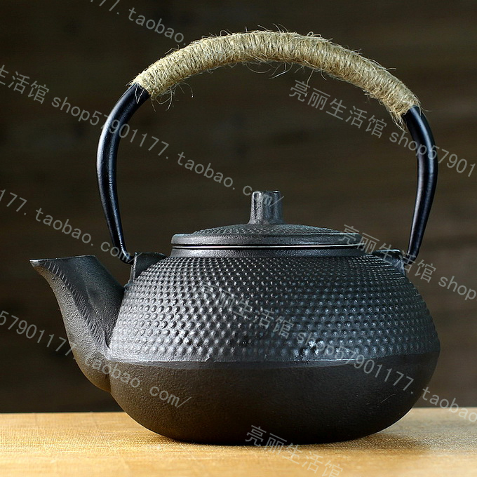 0.6l oxygen dot small pot iron cast teapot kettle water - Goods From China store