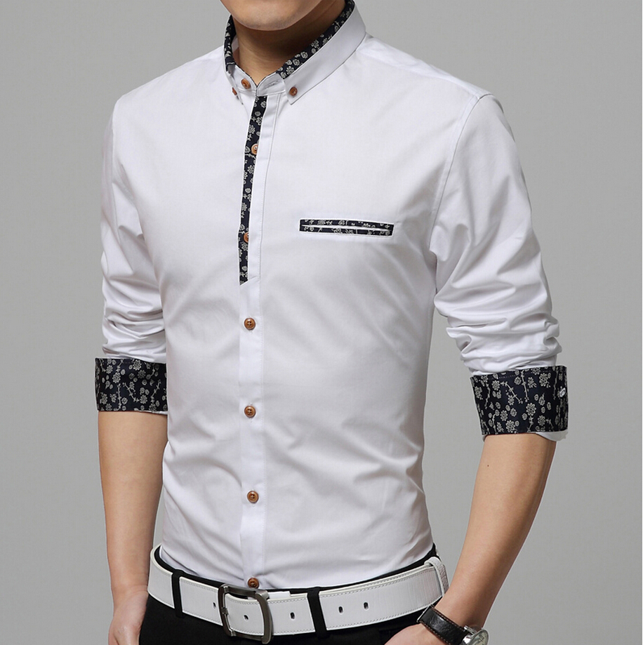 Com buy top fabric men shirt 2015 brand denim shirt men casual shirt