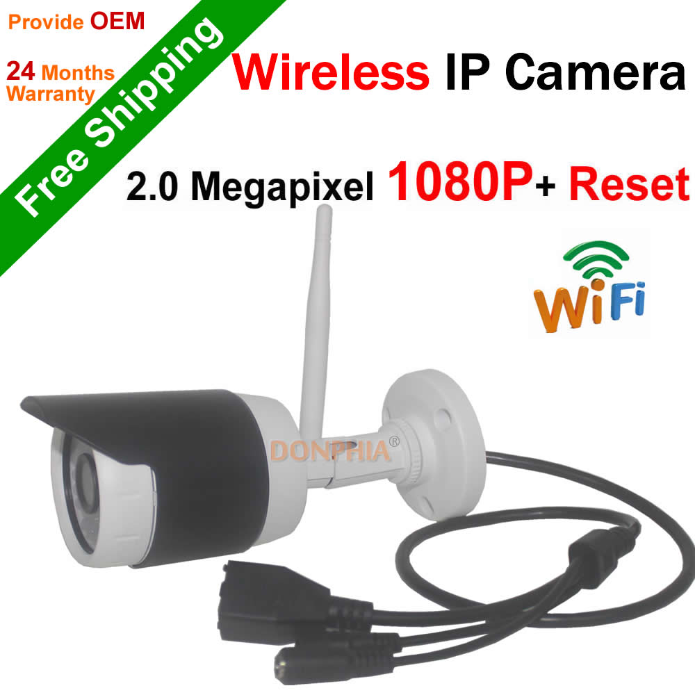 1080P Full HD Wifi Camera outdoor P2P Network ir day night 2.0MP IP Camera support remote view Onvif wireless bullet CCTV Camera(China (Mainland))