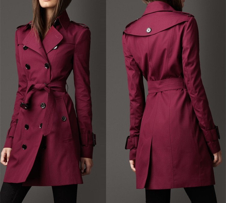 Recommend!!! 4 Colors Classic Fashion Women Long Trench Coat Women Elegant Slim Trench Free Shipping S-XXLОдежда и ак�е��уары<br><br><br>Aliexpress