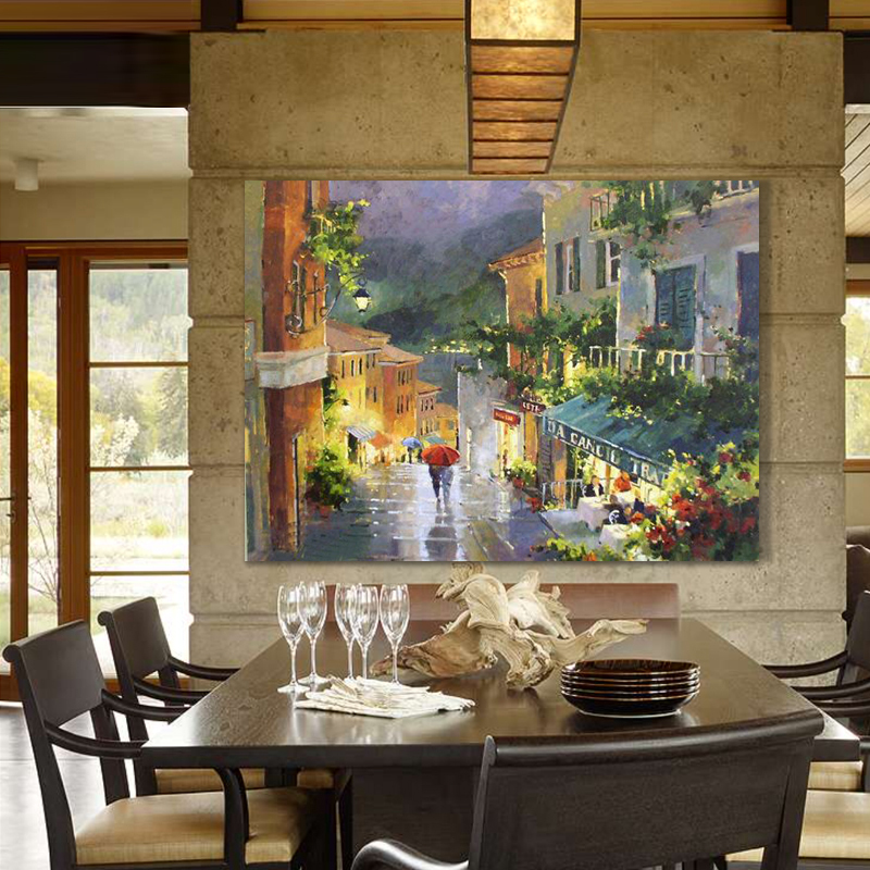 Buy wholesale street abstract oil for Home decor 86th street