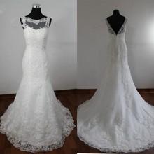 A line Tulle Lace Beading Luxury Wedding Dress 2017 Vestido De Noiva High Quality Open Back Marriage Women Dress AX20(China (Mainland))