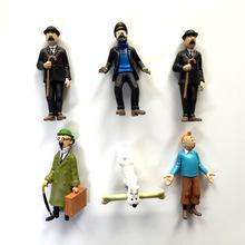 PVC anime cartoon 4-8cm The Adventures of Tintin PVC Action Figures Collectible Model Toys 6pcs/lot