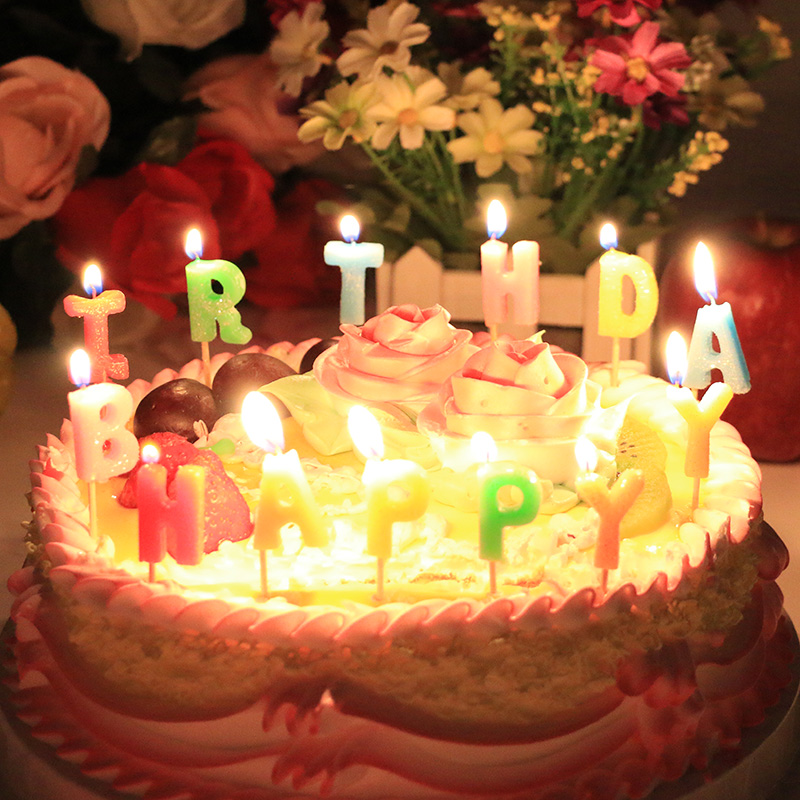 Candle romantic child birthday cake candle digital letter candle 0-9 number candlers for birthday and wedding free shipping(China (Mainland))