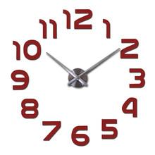 Venda 3d diy relógio relógios reloj de pared 2019new horloge relógio Sala relógio de Quartzo Espelho Acrílico Adesivos de Parede(China)