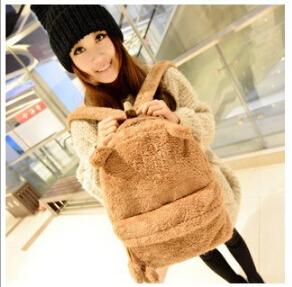 New Arrival 2015 Cute Plush teenager School bag Book Campus Backpack Cute Bear Design wholesale&retail drop shipping#SJJ2239(China (Mainland))
