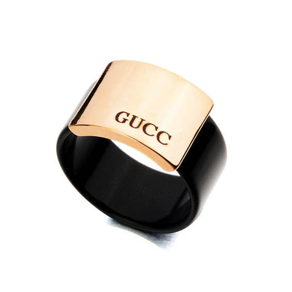 2015 Hotsale Free Shipping Fashion Jewelry Brand Name Ring 18K Gold Plated Black Rings For Women High Quality jewelry Rings(China (Mainland))