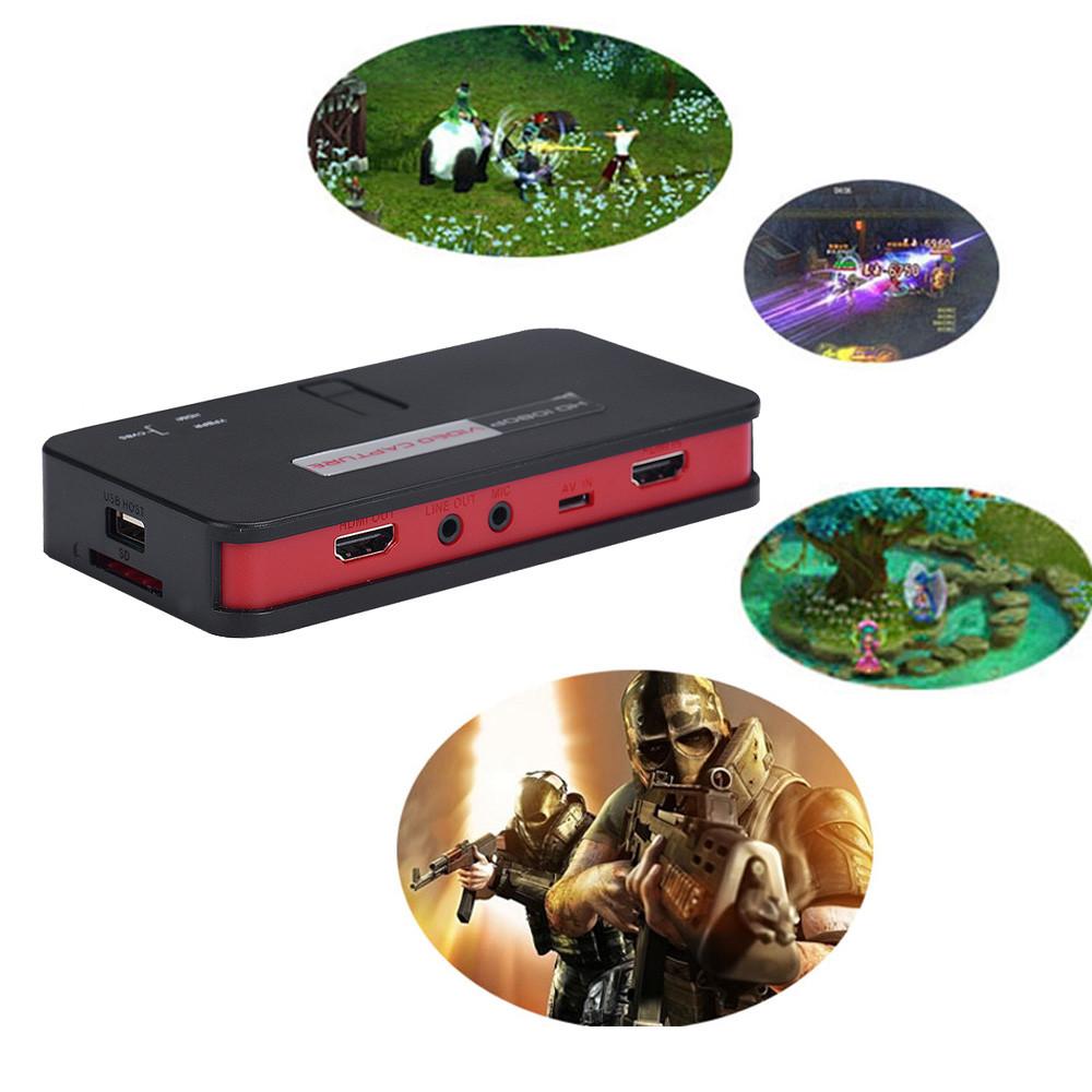 2016 Super Quality 1080 HD HDMI Game Capture Video Capture USB 2.0 Host Remote Control For XBOX 360 One PS4 WIIU #EC165