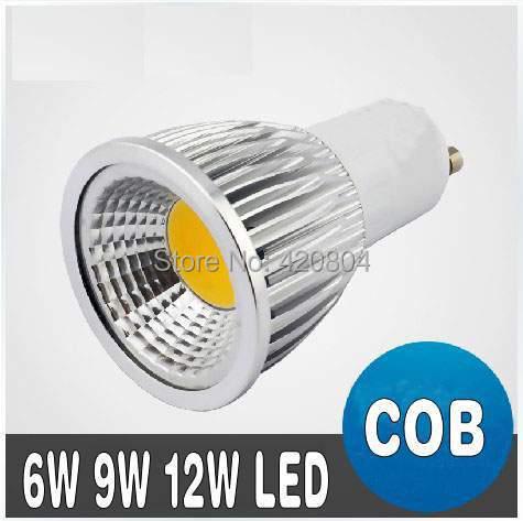 1pcs COB 3W 6W 9W 12W Led Spotlights Lamp 120 Angle GU10 E27 E26 MR16 GU5.3 Dimmable Led Bulbs Warm/Cool White AC 110-240V/12V(China (Mainland))