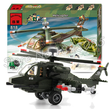 275pcs 2016 new Hot New CombatZones Helicopter large model Christmas Gift Building Blocks toys