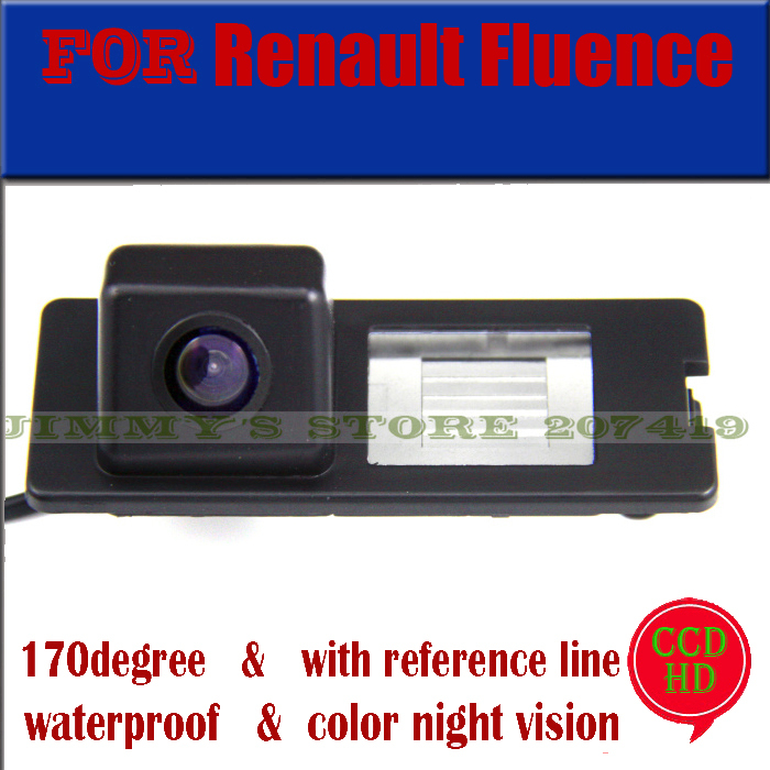 for Color Sony HD ccd camera for Renault Fluence Duster Car Rear View Camera Reverse Backup parking aid waterproof wire wireless(China (Mainland))