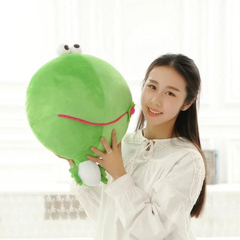 Cute Green Frog Plush Toys 45cm mung bean Frogs Cloth Doll Kids Baby pillow Cushion stuffed plush doll Child Christmas present(China (Mainland))