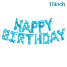 QIFU 16 بوصة بالونات عيد ميلاد سعيد احباط بالونات حروف وأرقام الاطفال تفضل الذهب والفضة الوردي الأزرق احباط بالونات الديكور حفلة الحدث(China)