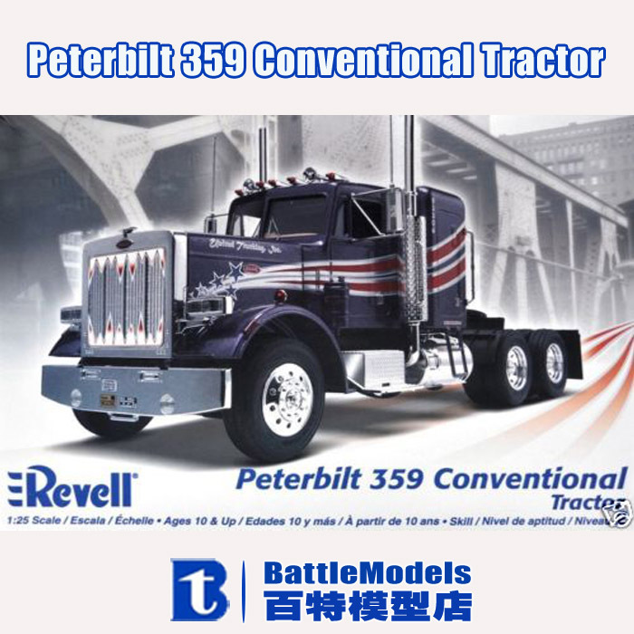 Revell MODEL 1/25 SCALE military models #85-1506 Peterbilt 359 Conventional Tractor Plastic Model Kit plastic model kit(China (Mainland))