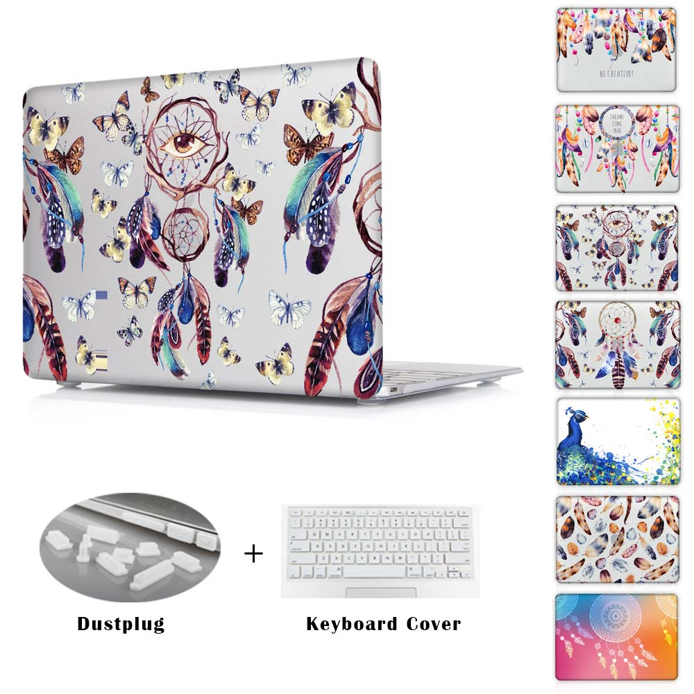 Dream catcher series Peacock feather printed Case For macbook pro 13 15 12 with retina macbook air 11 13 cover laptop shell(China (Mainland))