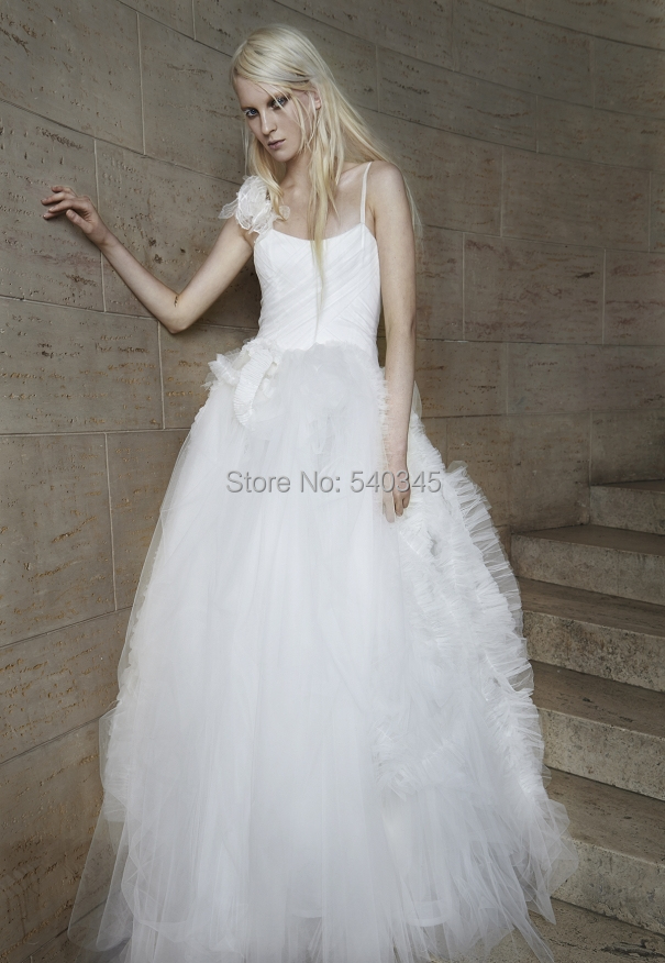 Ball Gown Wedding Dress Material : Ball gown spaghetti strap backless luxurious fabric wedding dresses