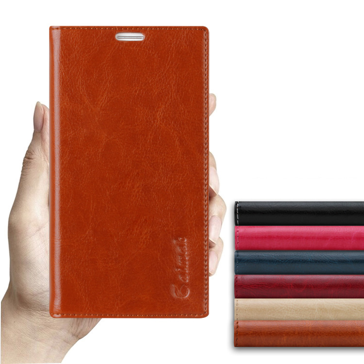 6 Color,Genuine natural Leather Flip Stand Case ASUS Zenfone 2 ZE551ML Luxury Mobile Phone bag Cases  -  Shenzhen OTO Technology Co., LTD store