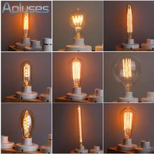 40W/60W 220V Handmade Edison Lamps Carbon Filament Clear Glass's Edison Retro Vintage Incandescent Light Bulb For Pendant Lamps(China (Mainland))