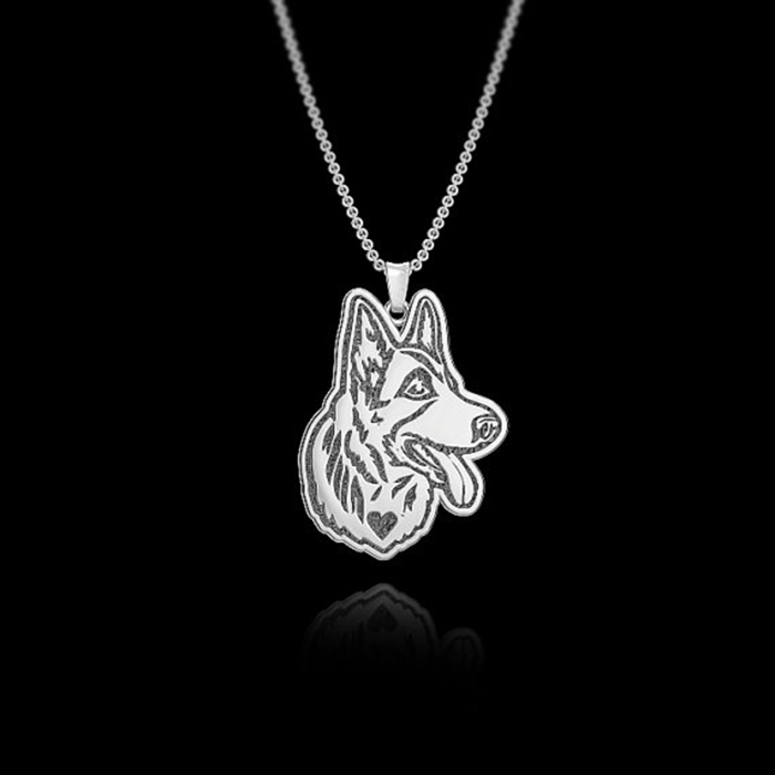 German Shepherd Jewelry pendant and necklace. Great for all the Dog, Puppy