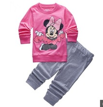 Buy sleepwear kids girl minnie clothing set baby girl 100% cotton pijama infantil kids pyjama garcon mickey boy clothes 2-7 yrs for $6.86 in AliExpress store
