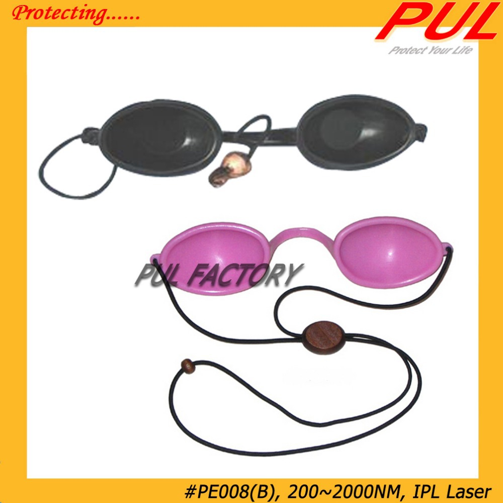 New PE008 Laser Safety Goggles, 200~2000nm Wavelength Eye Protection Glasses, IPL Laser, Black(China (Mainland))