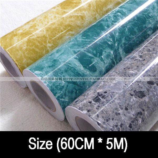 Free shipping waterproof oil marble furniture refrigerator kitchen cabinet countertop 3 m2 Kitchen wallpaper(China (Mainland))