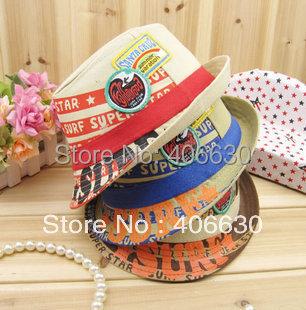 kid's fedora hats for children, baby jazz cap, chapeu panama hats for girls, boys fedora hats, free shipping(China (Mainland))