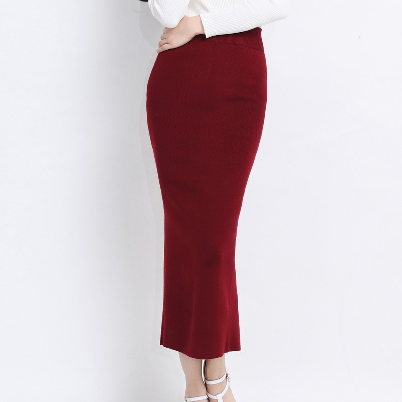 Excellent Fashion Elegant Solid Long Skirts 2015 Street Style Autumn Women