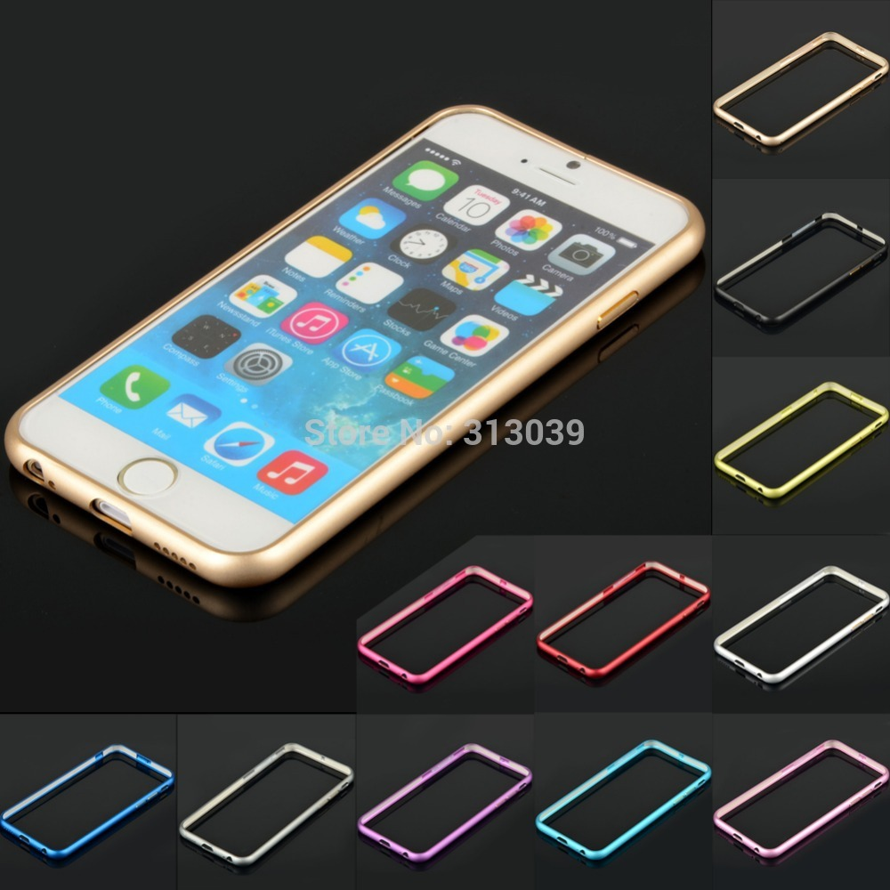 """Free shipping 2014 Hot 4.7"""" Ultra Thin Aluminum Metal Bumper Case Frame Cover For iPhone 6 CN168 P(China (Mainland))"""