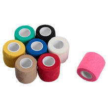 High Quality Colorful Self Adhesive Ankle Finger Muscles Care Elastic Medical Bandage  Gauze Dressing Tape Sports Wrist Support(China (Mainland))