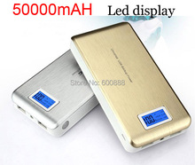 New arrival Top brand 50000mah Power bank with LED diaplay external battery For iphone Samsung phones charger(China (Mainland))
