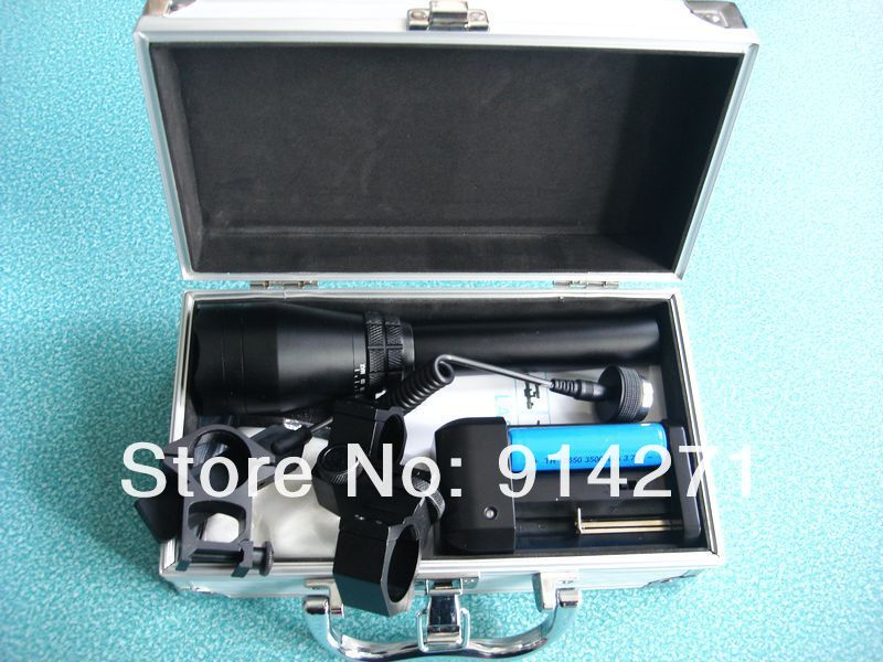 EMS/DHL Free fee Suitcase package Hunting Winter using 50MW ND-50 laser designator with 18650 Recharger battery and charger(China (Mainland))