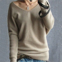 2014 Quality Brand Desigual Women Cashmere Sweaters Sexy V-neck Wool Knitted Pullovers Casual Plus Size Autumn Winter Sweaters