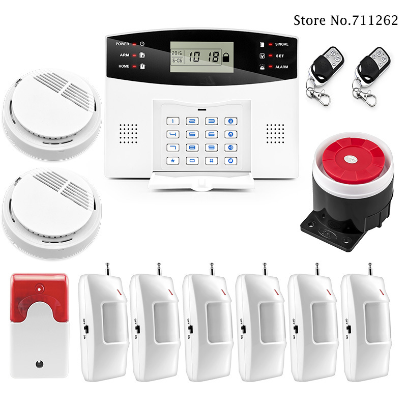 Authentic Wolf Guard  APP Control GSM Alarm System Burglar Alarm Alarm System Security for Home Office Shop Hotel Smoke Detector<br><br>Aliexpress