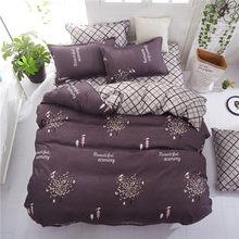 Grey bedding set 2018 summer bed linens 3or 4pcs/set duvet cover set Pastoral bed set kids / Adult bedding bedclothes queen kin(China)