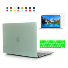 Crystal clear Case For Apple macbook Air Pro Retina 11 12 13 15 laptop case For Mac book 11.6 13.3 15.4 inch macbook case cover