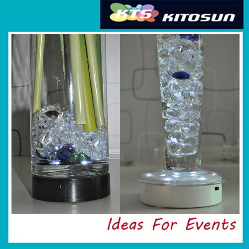 Christmas party and event table decor light,9LEDs centerpiece light base(China (Mainland))