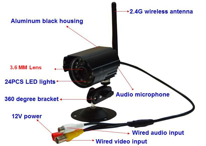 New 2.4G wireless infrared night vision camera / wireless surveillance cameras wireless CCD camera(China (Mainland))