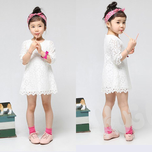 [해외]New Style Girls Kids Princess Party Lace Tutu Form..