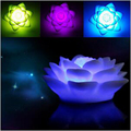 LED Night Light Colors Novelty Bed lamp For Baby Bedroom Gift Romantic Colorful Lotus Lights Lamp