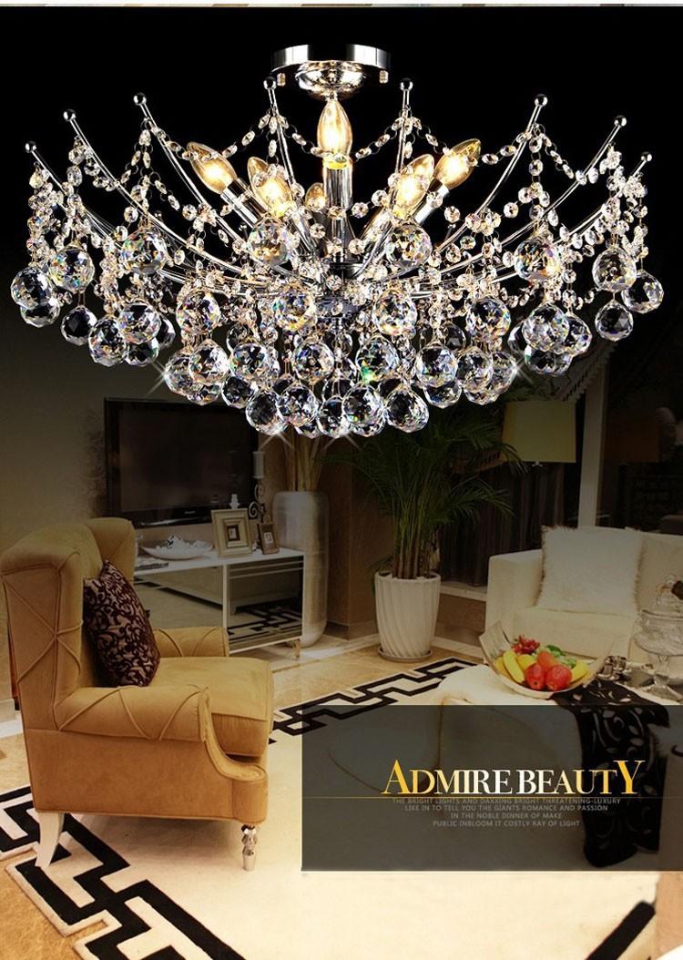 Modern Crystal Chandelier Light Fixture Chandeliers Lustres de Para Sala Techo Cristal Lighting Fixture Home Deco<br><br>Aliexpress