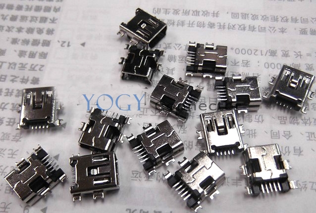 Free Shipping! 10x 5 pin MINI USB Connector, Micro Data Connecting Socket Dock fit for MP3, MP4, Phone(China (Mainland))