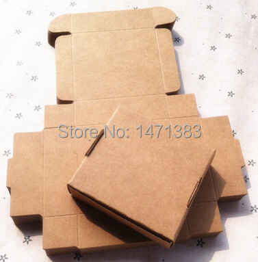 400pcs 6.1*7.6*2.6cm Kraft paper gift packaging box custom carton handmade soap Jewellery Candy Food packages Free Shipping(China (Mainland))