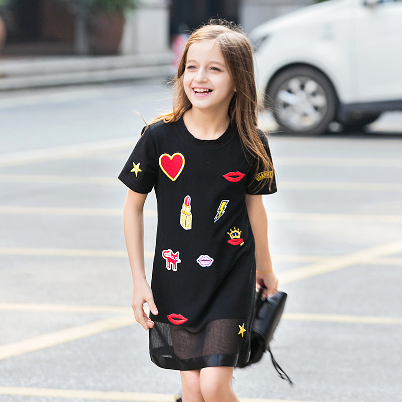Girls Dresses Original Design Cute Cotton 2017 Spring And Summer Children's Clothes Lovely Dresses Girls Princess Holiday(China (Mainland))