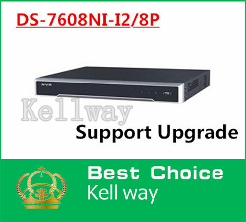 DS-7608NI-I2/8P English version 2SATA and 8 POE ports 8ch NVR supporting third-party camera, plug &amp; play NVR POE 8ch VCA H.265<br><br>Aliexpress