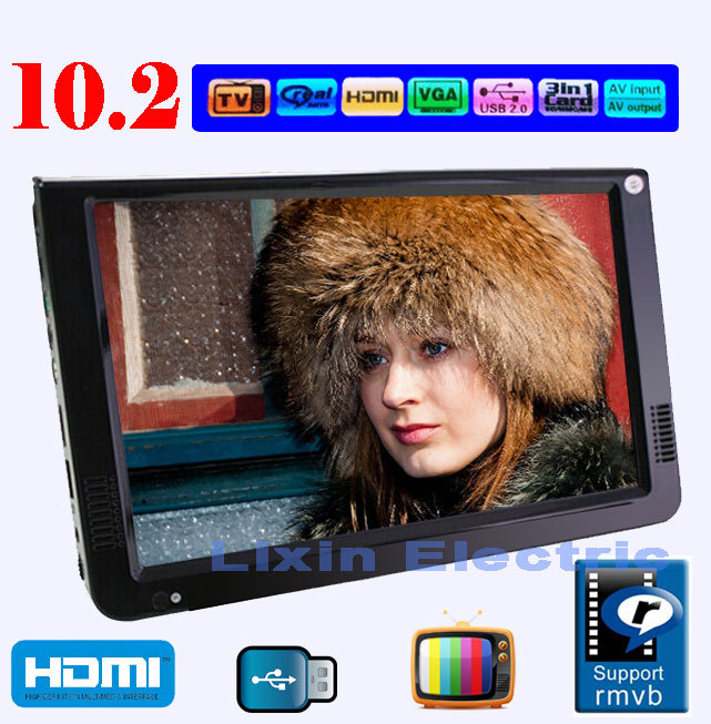 """2016 NEW Televisions Portable TV 10.1"""" LED TFT Portable Multimedia Player With HDMI /SD/USB DISK/TV Tuner And Pic(China (Mainland))"""