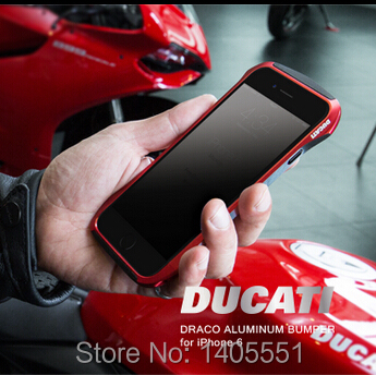 Popular DRACO Ducati Aviation Aluminum Bumper case For iPhone 6 4.7 inch Metal Case Cover for iphone6 6G with Retail Packaging(China (Mainland))
